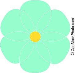 Blue flower, illustration, vector on white background