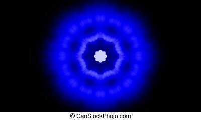 blue flower pattern and light