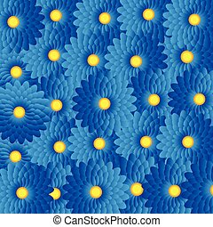 Blue flowers- abstract background