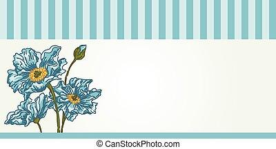 Blue flowers banner