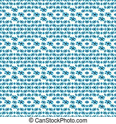 blue flowers on a white background seamless pattern vector illustration