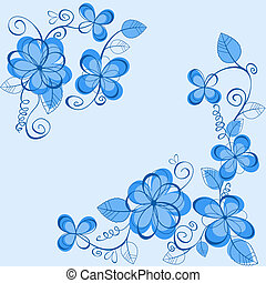 Blue flowers on backgound - Blue flowers on background for...