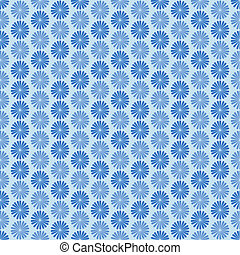 Blue flowers, ornament, seamless pattern
