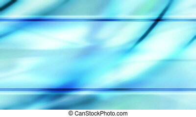 Blue flowing frame abstract loop