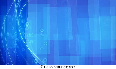 blue flowing lines and circles loop