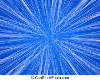Blue fluffy infinity