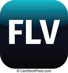blue flv icon