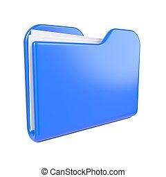 Blue Folder Icon on White.