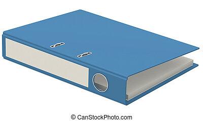 Blue folder isolated on white background