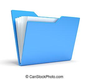 Blue folder. Isolated on white background