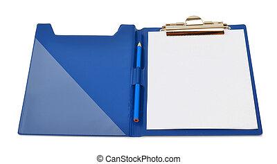 folder isolated on white