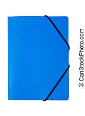 Blue folder isolated