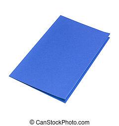 Blue Folder isolated on white