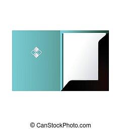 blue folder with corporate image vector illustration design