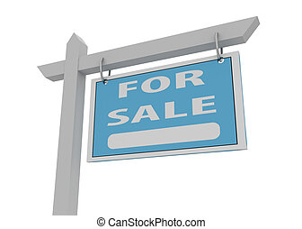 blue for sale sign
