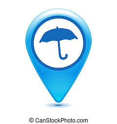 blue forecast pointer icon on a white background