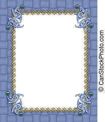Blue formal invitation border