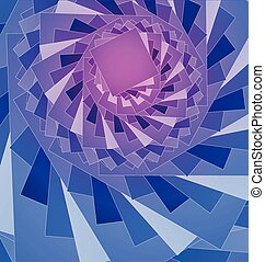 Blue fractal vector background