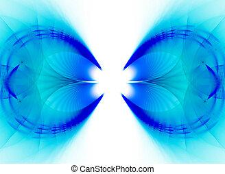 Blue Fractal Vortex