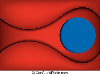 blue frame against abstract red background