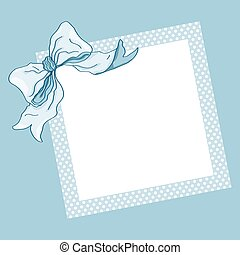 Blue frame and ribbon