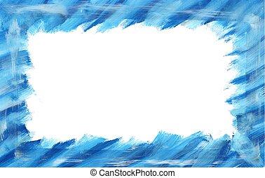 blue frame design