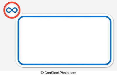 Blue frame for your text and infinity symbol