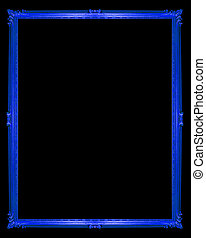 blue frame isolated on white background, clipping path