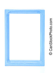 Blue frame - The blue picture frame isolated on white...
