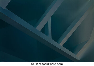 Blue frame - Picture of blue frame of roof