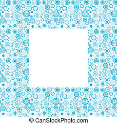 Blue frame with doodle circles