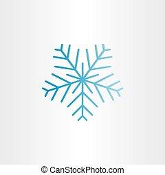 blue frozen snowflake icon