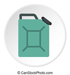 Blue fuel jerrycan icon circle