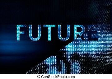 Blue future background