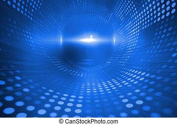 Blue futuristic background - Digitally generated blue...