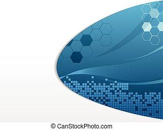 Blue Futuristic design