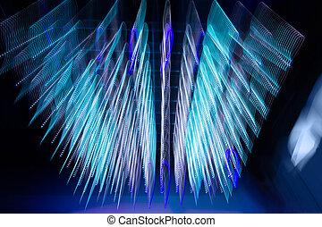 blue futuristic desktop background - backgrounds concept -...