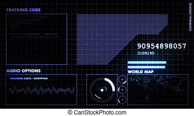 Blue futuristic graphic interface