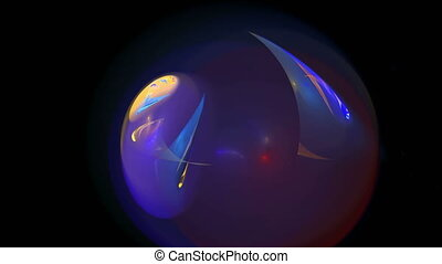 Blue galaxy ball abstract loop motion background