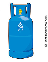 blue gas cylinders vector