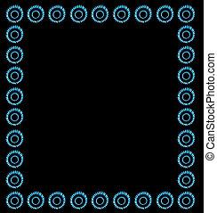 Blue gas frame background
