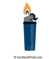 blue gas lighter flame icon