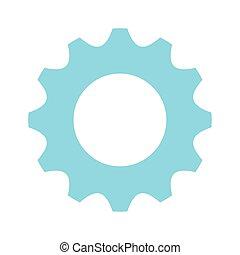 blue gear wheel icon, colorful design