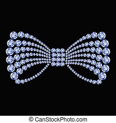Blue gemstone bow composition