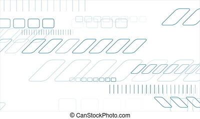 Blue geometric abstract hi-tech motion background. Video animation Ultra HD 4K 3840x2160