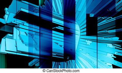 Blue Geometric Abstract Loop