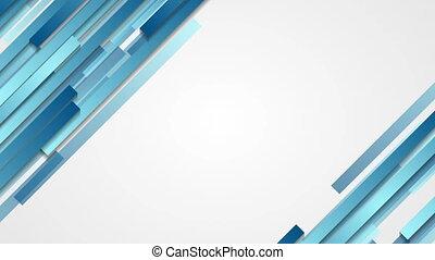 Blue geometric abstract tech motion design - Blue geometric...