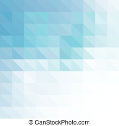 Blue geometric background made of triangles