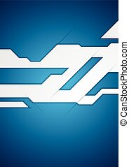 Blue geometric corporate technology background