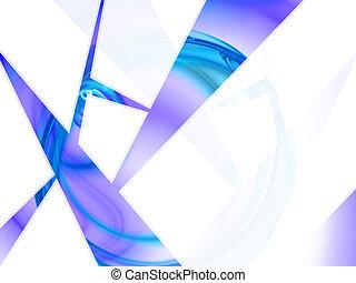 Blue Geometric Layout